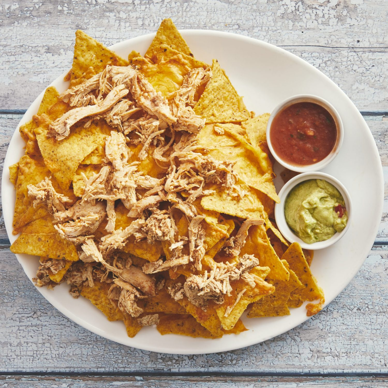 Nachos med grilled chicken 85,-